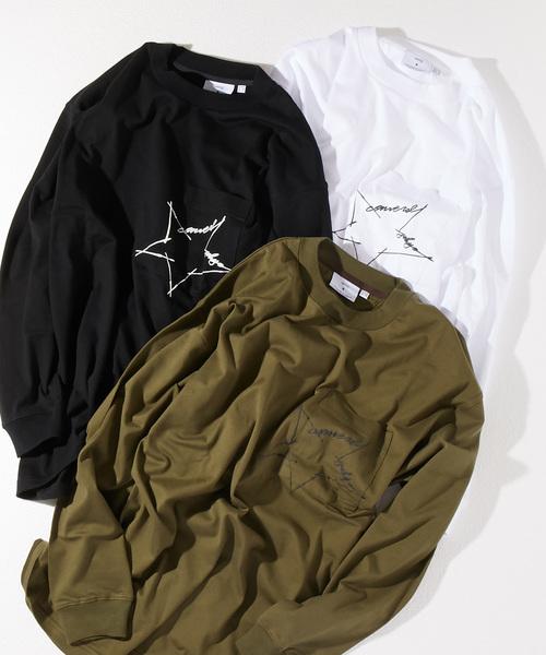 CONVERSE TOKYO/コンバーストウキョウ 筆記体ロゴロングスリーブTシャツ
