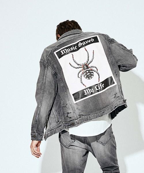 公式 【セール DENIM】ZIP SPIDER DENIM SPIDER JKT/(ハード加工)(デニムジャケット) MSML(エムエスエムエル)のファッション通販, こむろのキモノ:a6791958 --- skoda-tmn.ru