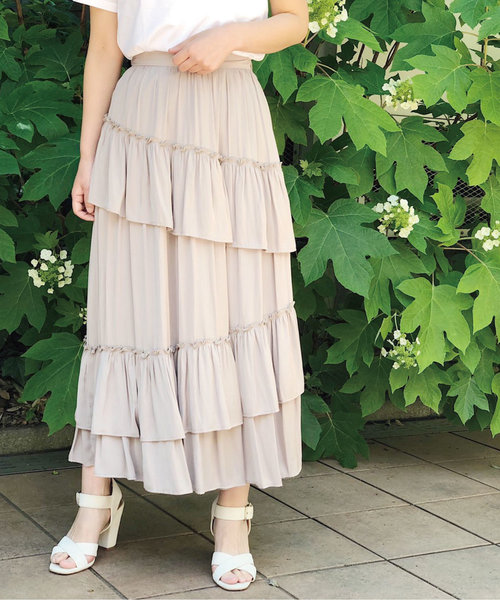 低価格で大人気の VINTAGE LONG SK / ヴィンテージロングスカート, エリモチョウ 1ecefeae