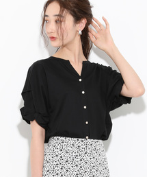 ViS(ビス)の【Silky smooth touch】【前後2WAY】袖ねじれプルオーバー(Tシャツ/カットソー)