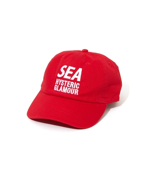 HYSTERIC GLAMOUR(ヒステリックグラマー)の「WIND AND SEA/CAP(キャップ)」|レッド