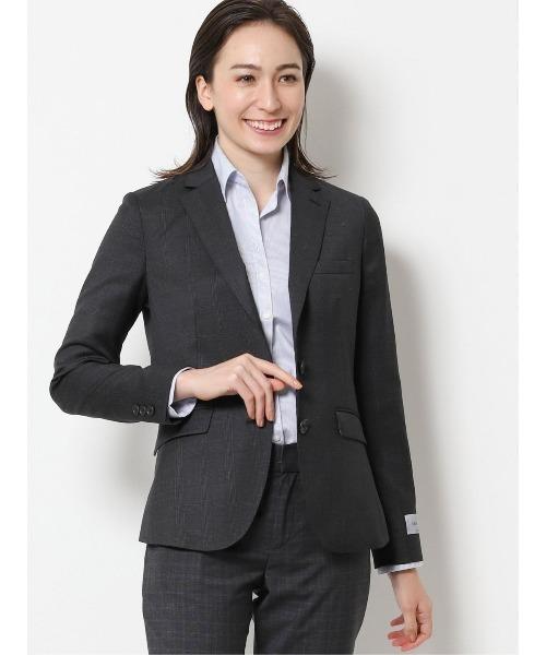 エムエフエディトリアルレディース/m.f.editorial:Women レダ/REDA FLEXO グレンチェック柄セットアップ 2ボタンテーラージャケット(セットアップパンツ·スカートございます)