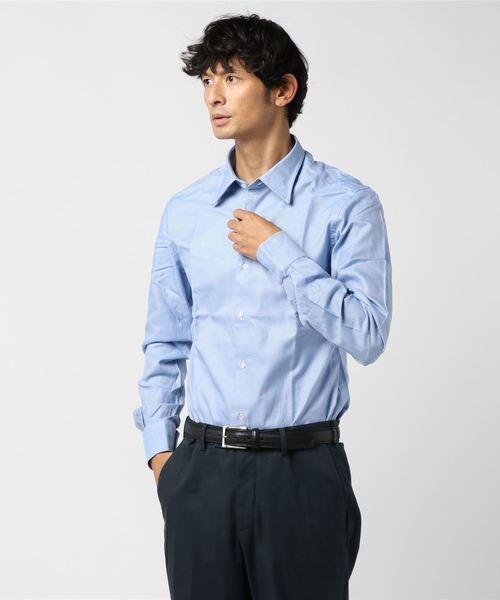セール stile latino tulli マイクロチェック レギュラーカラーシャツ