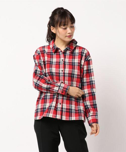 ・カジュアルチェックBIGシャツ