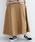 merlot(メルロー)の「フロントボタンタックフレアスカート052-7007(スカート)」 ベージュ