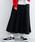 merlot(メルロー)の「フロントボタンタックフレアスカート052-7007(スカート)」 ブラック