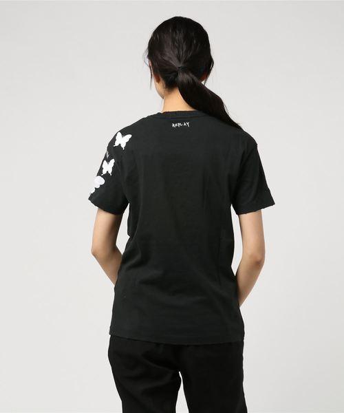 シングルジャージー バタフライ Tシャツ