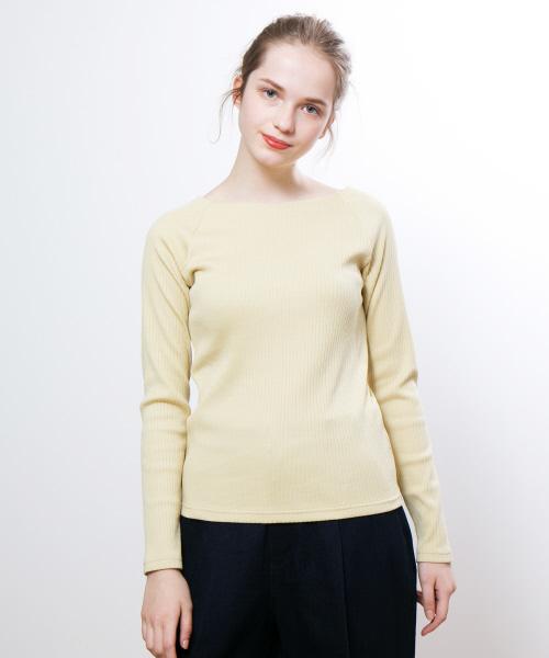 collex(コレックス)の「ワイドリブプルオーバー(Tシャツ/カットソー)」|イエロー