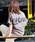 HER CLOSET(ハークローゼット)の「【HERCLOSET】バックプリントロゴTシャツ(Tシャツ/カットソー)」|チャコールグレー