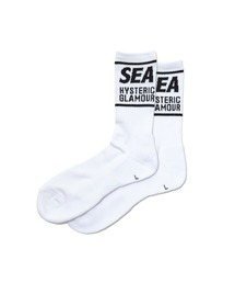 WIND AND SEA/SOCKSホワイト