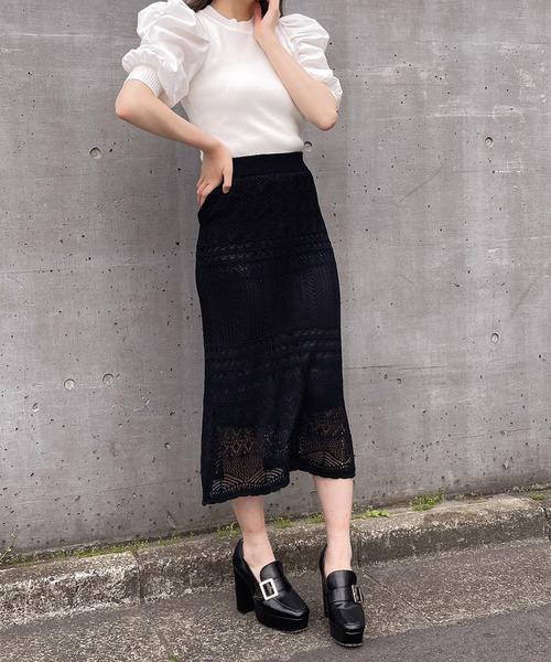 【Crea titty&Co.PETIT】クロシェマーメイドスカート