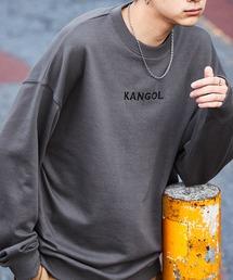 ▽WEB限定 MONO-MART×KANGOL カンゴール ビッグシルエット プルオーバースウェットチャコール