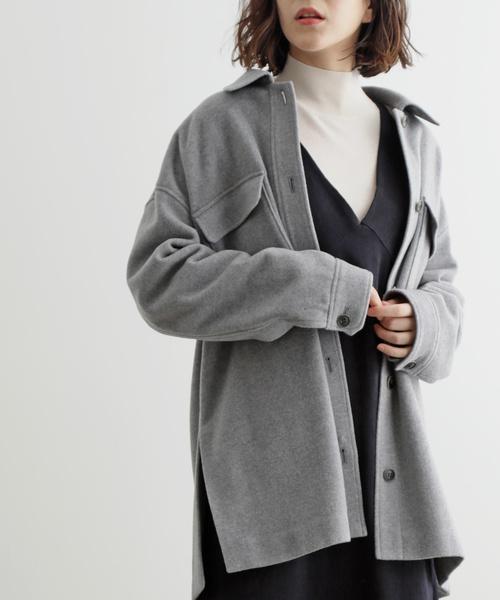 最適な価格 【セール】ウールナイロンオーバーシャツジャケット(その他アウター) ET SALON adam ロペ,ADAM et rope