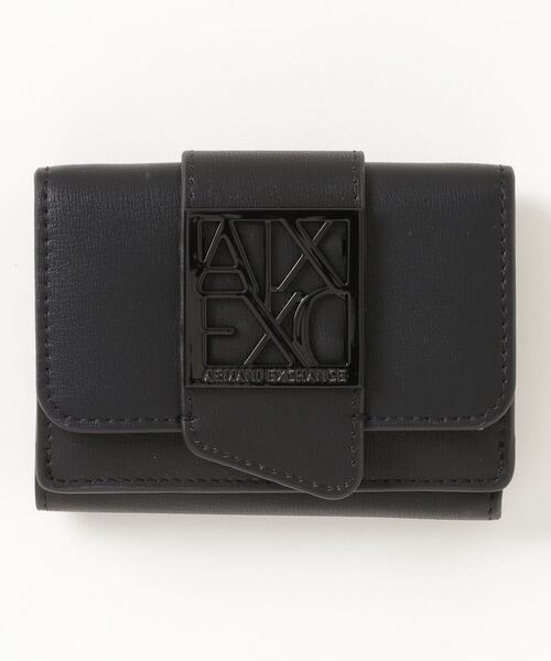 【A|Xアルマーニ エクスチェンジ】BOXロゴバックルミニ財布