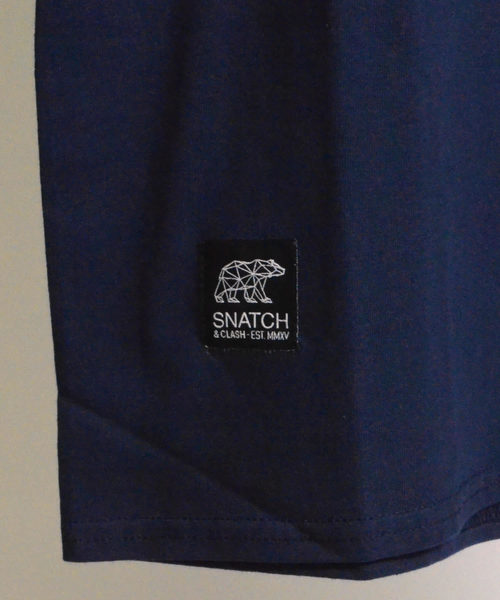 SNATCH & CLASH TENTクルーネックプリントTシャツ