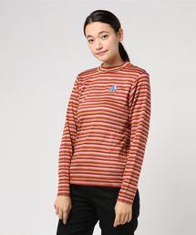 THE NEW HYS刺繍 モックネックTシャツ