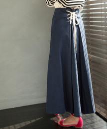 ViS(ビス)の【WEB限定】バックレースアップロングスカート(スカート)