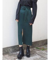 MURUA(ムルーア)のベルテッドペンシルスカート(スカート)