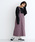 merlot(メルロー)の「コーデュロイ配色ステッチワークサロペットスカート3270(サロペット/オーバーオール)」|パープル