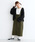 merlot(メルロー)の「コーデュロイ配色ステッチワークサロペットスカート3270(サロペット/オーバーオール)」|カーキ