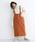 merlot(メルロー)の「コーデュロイ配色ステッチワークサロペットスカート3270(サロペット/オーバーオール)」|オレンジ