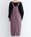 merlot(メルロー)の「コーデュロイ配色ステッチワークサロペットスカート3270(サロペット/オーバーオール)」|詳細画像