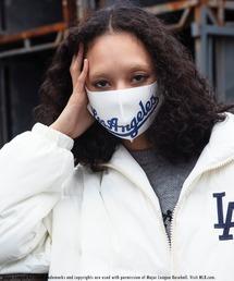 【MLB】ファッションマスク(ドジャース)オフホワイト