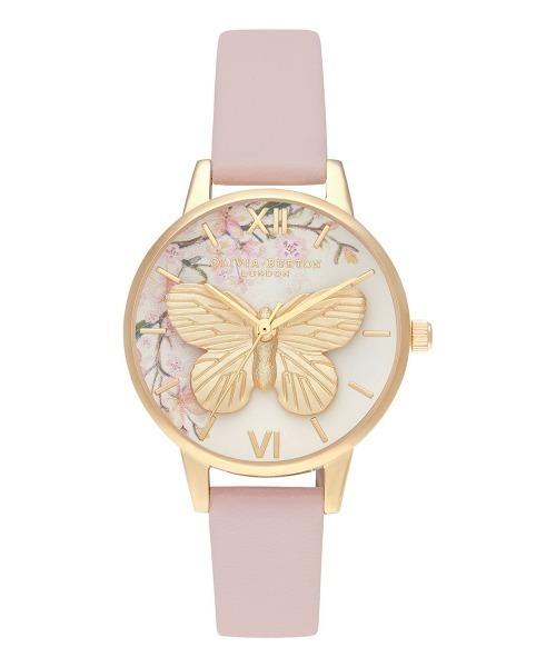 オリビアバートン/OLIVIA BURTON 日本公式 エンチャントガーデン 3Dバタフライ ビジュエルドセミプレシャス 腕時計 ▲