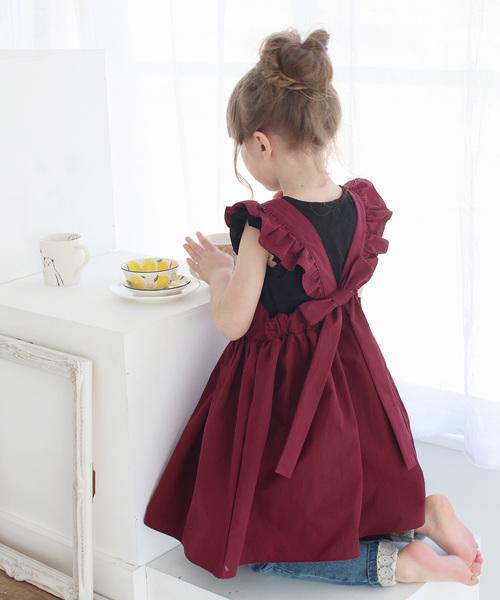 Rora ミンゴ エプロン ドレス(2color)