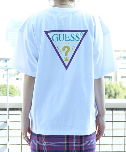 ▽【WEB限定】GUESS×FREAK'S STORE/ゲス 別注SUPER BIG COLORED LOGO TEE/スーパービッグ カラーロゴTシャツ
