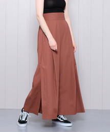 <H>HIGH WAIST SLIT BUGGY PANTS/パンツ
