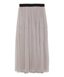 Mila Owen(ミラオーウェン)のウエストゴムチュールティアードスカート(スカート)
