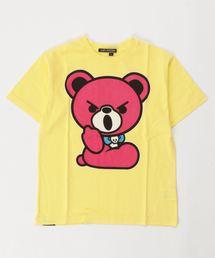 HELLO BEAR pt Tシャツ【L】イエロー