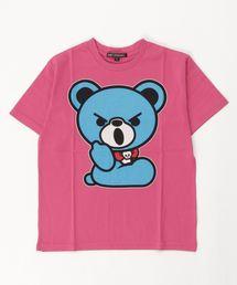 HELLO BEAR pt Tシャツ【L】マジェンタ