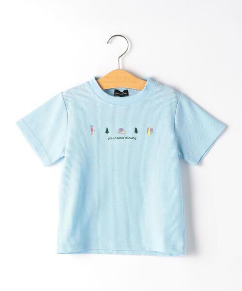 【キッズ】モチーフ刺しゅう Tシャツ