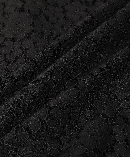 ROPE' mademoiselle(ロペマドモアゼル)の「【インナー付き】シャーリングレースブラウス&キャミソールセット(シャツ/ブラウス)」 詳細画像