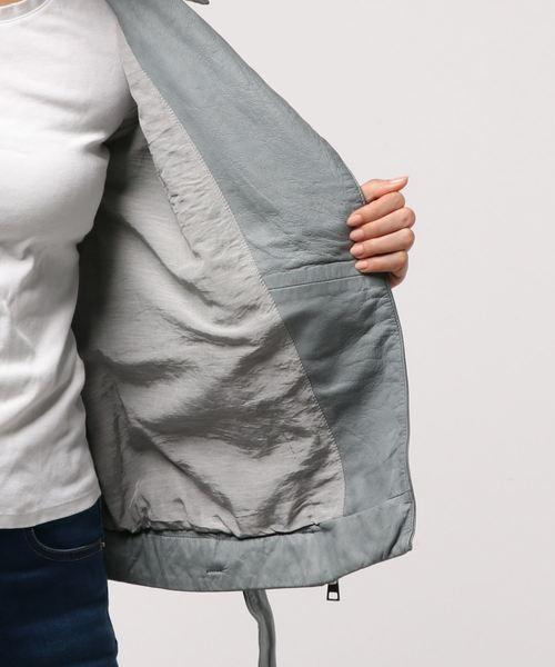 TELA(テラ)の「TELA レザージャケット(ライダースジャケット)」|詳細画像