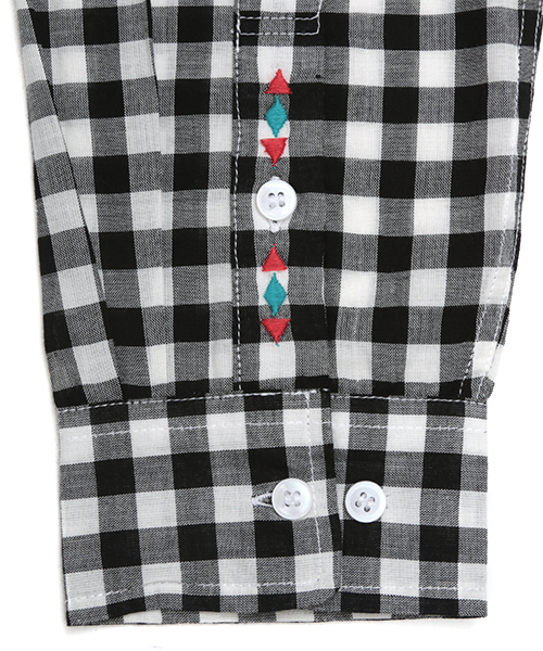 ギンガムチェックシャツ
