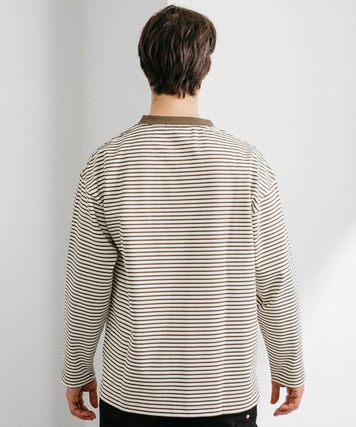 ヘビーウェイトボーダーロングスリーブTシャツ