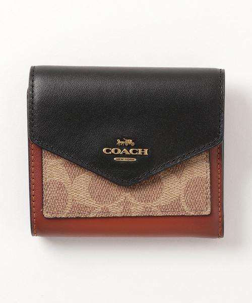 COACH(コーチ)の「【コーチ】スモール ウォレット カラーブロック シグネチャー キャンバス(財布)」|ベージュ系その他