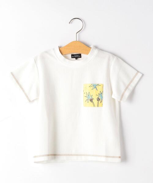 【キッズ】ヤシの木ポケット Tシャツ