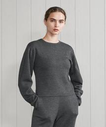 <H>WOOL CASHMERE COCOON SLEEVE KNIT/ニット