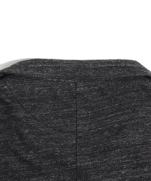 杢ボーダー長袖テーラードジャケット