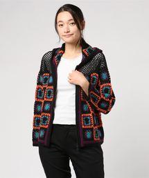 カギ針モチーフ編みパーカー