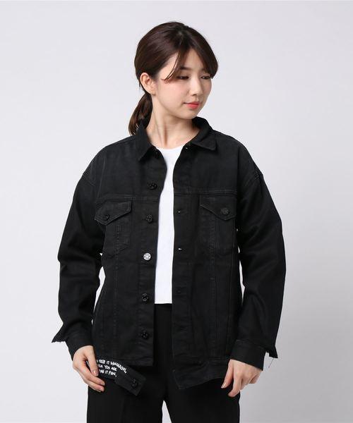 海外並行輸入正規品 11oz コーテッドブラックデニムジャケット, タイシャマチ fa18b27e
