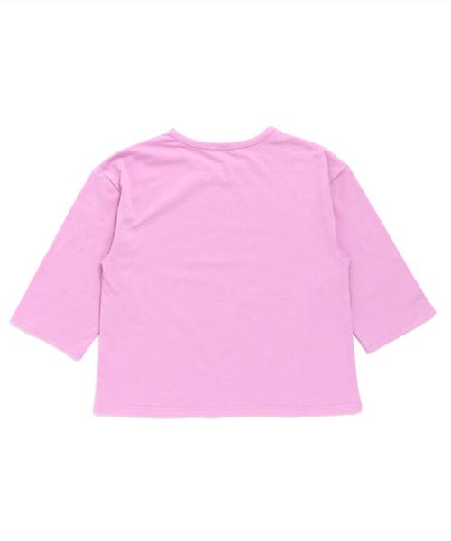 7分袖ロゴTシャツ