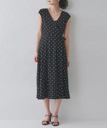 MAISON DE REEFUR(メゾンドリーファー)のドット カシュクール ドレス(ワンピース)