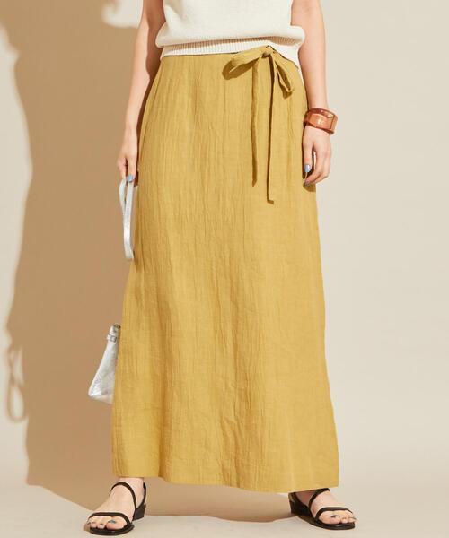 BY∴ サイドリボンタイトマキシスカート