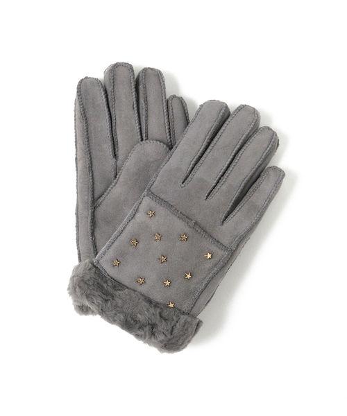Ray BEAMS(レイビームス)の「Casselini / ★ スタッズ グローブ(手袋)」|グレー
