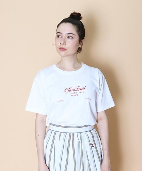 【 Le SansPareil / ルサンパレイユ 】7oz LSP LOGO PRINT TEE 7オンス プリントロゴ Tシャツ famme ( ウィメンズ )